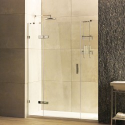 8mm Hinged Door with Two In-Line Panels