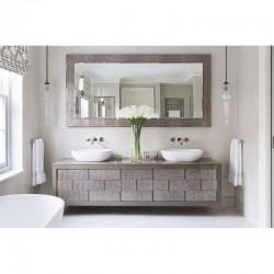 Bespoke Marble Top and Glass Multi drawer Vanity