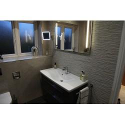 Elements Vanity & Brasilia Tiled Bathroom