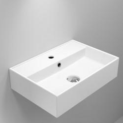 Quadro Ceramic Rectangular Basin with tap hole