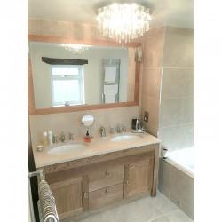 Travertine Porcelain Steam Shower room