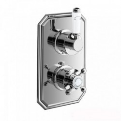 Henbury Thermostatic Shower Valve - Traditional Round One Way Mixer