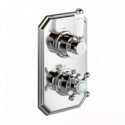 Henbury Thermostatic Shower Valve - Traditional Round Two Way Mixer