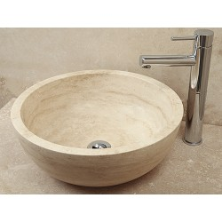Style 5 Hand Crafted Natural Stone Bowl 42cm