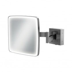 LED illuminated 3x magnifying mirror with rocker switch