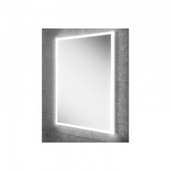 Steam free LED mirror with ambient lighting