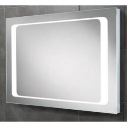 LED back-lit mirror with shavor socket.