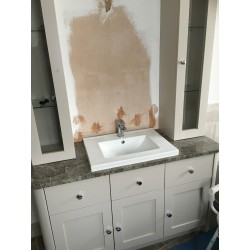 Wet Room With Almond Soft Stone Porcelain Tiles