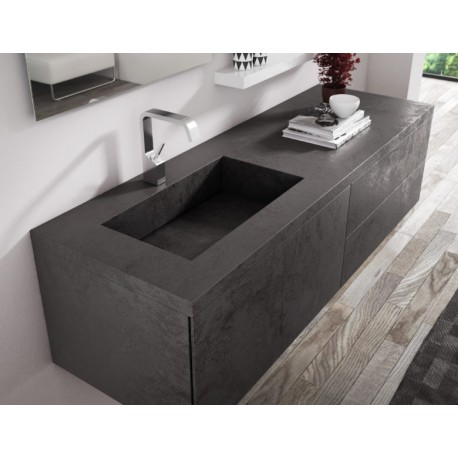 Linx Double Drawer Vanity Oxide Nero