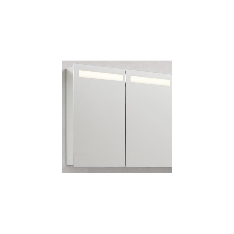 2 door led mirrored cabinet various width options stonewood for Bathroom cabinets 80cm wide