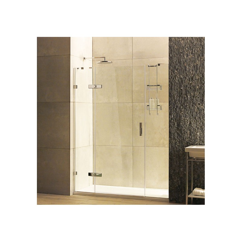 8mm Hinged Door with Two In-Line Panels - STONEWOOD