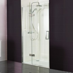 10mm Hinged Door with Hinged Inline Panel