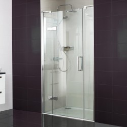 10mm Hinged Door with Two Inline Panels
