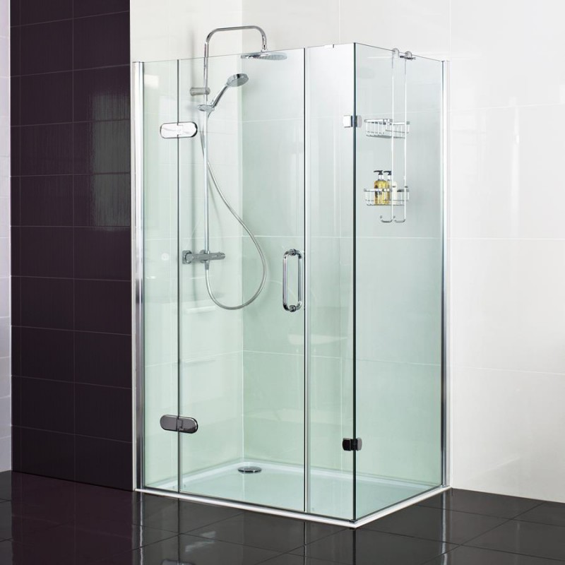 10mm Hinged Door with Two Inline Panels - STONEWOOD