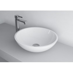 Madison Round Cast Stone Gloss White Basin