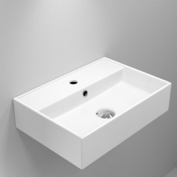 Quadro Ceramic Rectangular Basin with tap hole