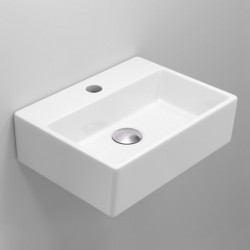 Quadro Mini Ceramic Rectangular Basin with tap hole