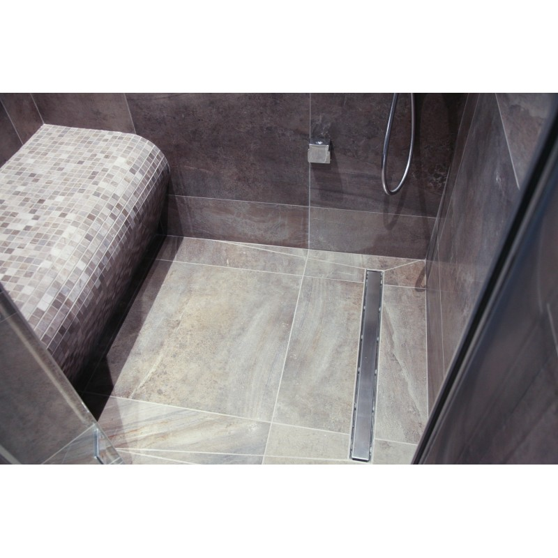 Wet Room Wall Panels >> Soft Melt Tiled Small Steam Room with Grey Elements Drawer ...