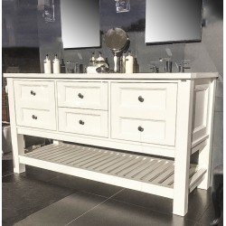 Henbury Set 12 Open Slatted Shelf Vanity