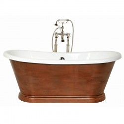 Arley Antique Bronze Finish Double Acrylic 170x75cm Free Standing bath