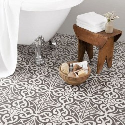 Dec Black Floor tile