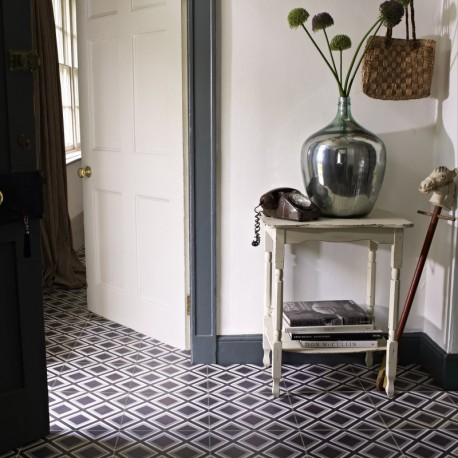 Squares Black Floor tile