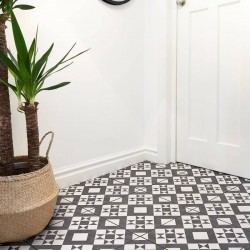 Geo Black Floor tile