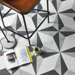 North Grey Black Floor tile
