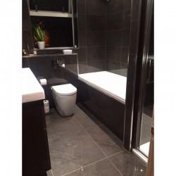 Lava Tiled bathroom