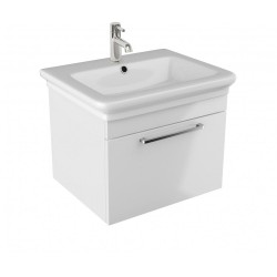 Cube 60cm Wall Single Drawer Vanity