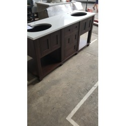 Bespoke Set 12 Large Dark Oak Stained Vanity