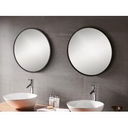 Round Black Mirror 60cm