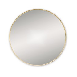 Round Brushed Brass Mirror 60cm