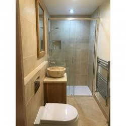 Travertine Porcelain Small Shower room