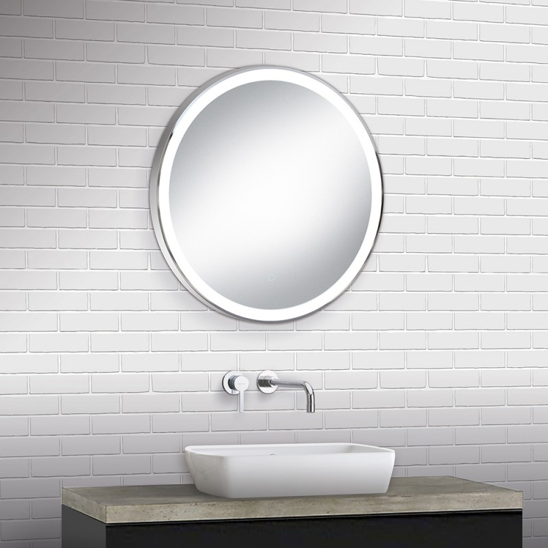 Buy Round Led Back Lit Mirror Chrome 60cm