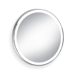 Round LED back-lit mirror Chrome 60cm