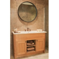 Set 12 Oak Radius Leg Vanity