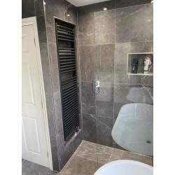 Bespoke Bathroom Open Oak Vanity