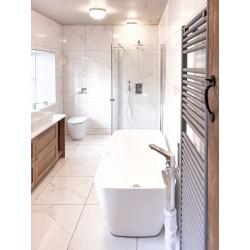 White Marble Porcelain Bathroom