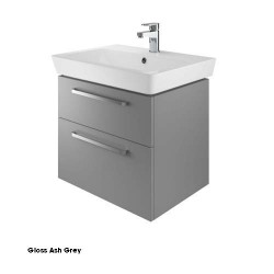Project 60 Cm Two Drawer Vanity Gloss Ash Grey