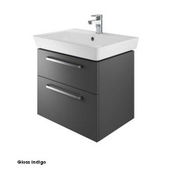 Project 60 Cm Two Drawer Vanity Gloss Indigo