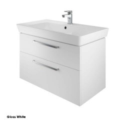 Project 80 Cm Two Drawer Vanity Gloss White