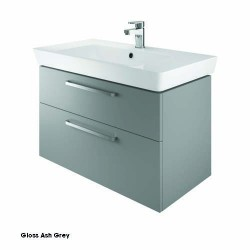 Project 80 Cm Two Drawer Vanity Gloss Ash Grey