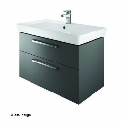 Project 80 Cm Two Drawer Vanity Gloss Indigo