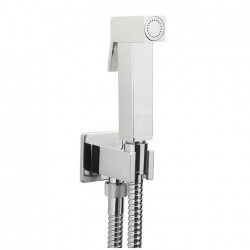 SQUARE DELUXE DOUCHE KIT WITH OUTLET CHROME