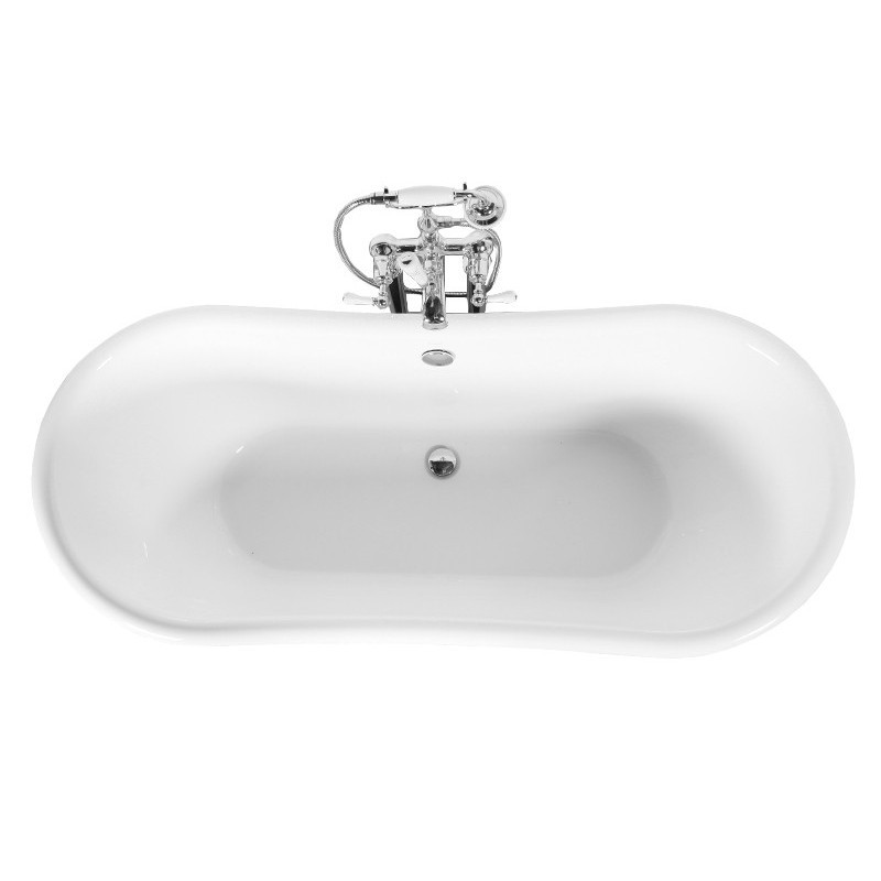 Arley Double Acrylic 170x75cm Free Standing Bath Solid Aluminium Outer Stonewood