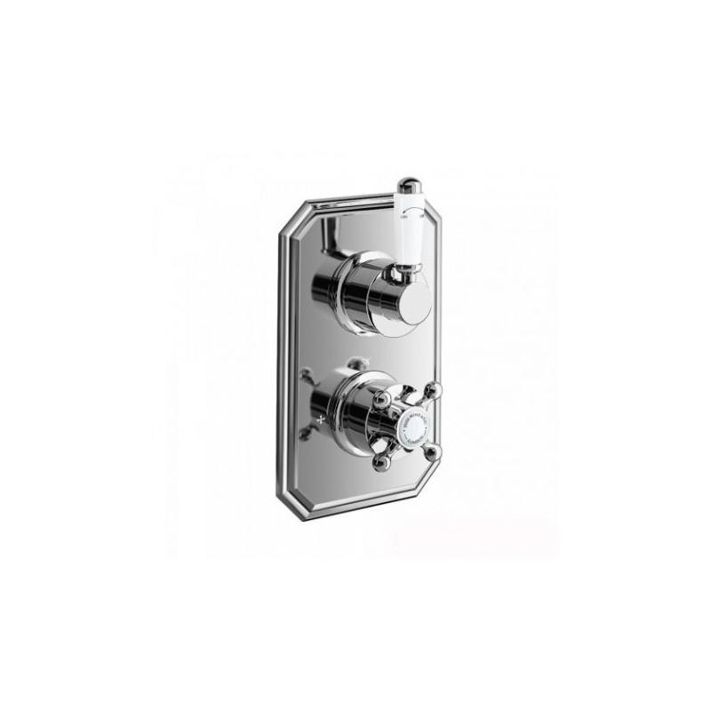 Henbury Thermostatic Shower Valve - Traditional Round One Way Mixer ...