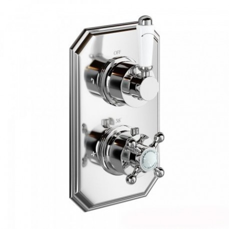 Henbury Thermostatic Shower Valve   Traditional Round Two Way Mixer