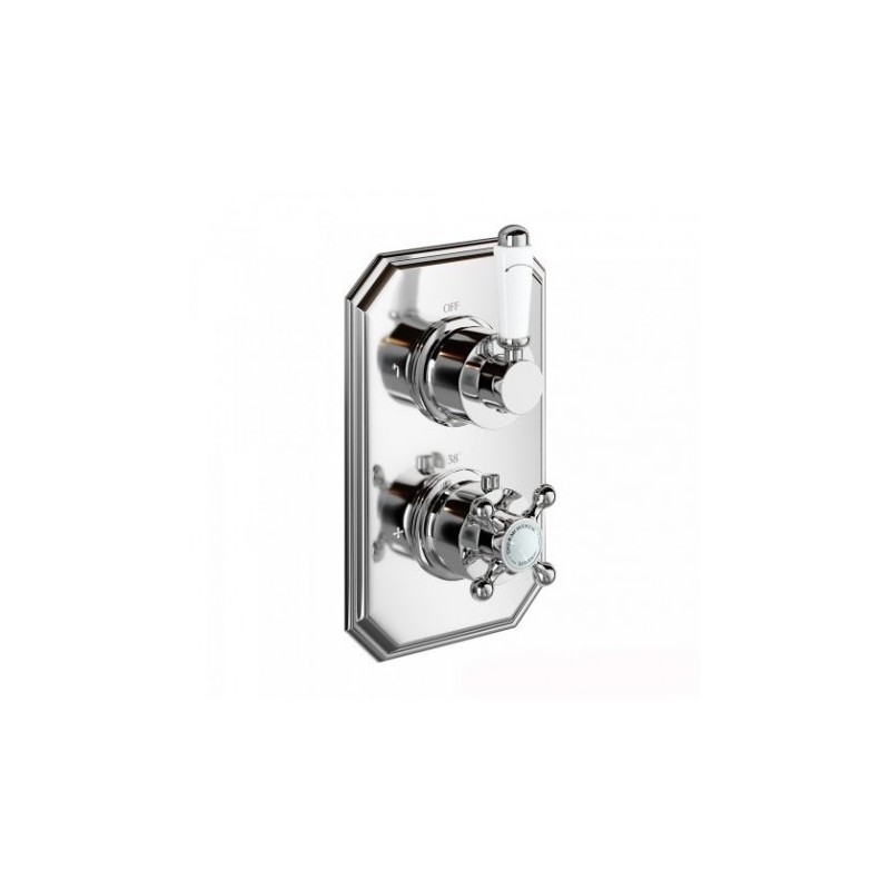 Henbury Thermostatic Shower Valve - Traditional Round Two Way Mixer ...