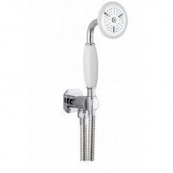 Henbury shower handset, wall outlet and hose - Chrome